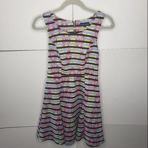 My Michelle Watercolor Style Striped Dress Size 7